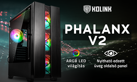 Kolink Phalanx V2 - Ötletes belső terekkel jött az új modell