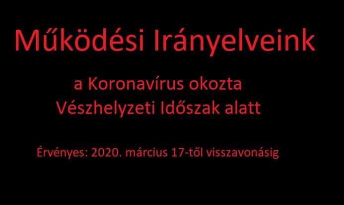 A Caseking Hungary Kft. Működési Irányelvei a  Koronavírus okozta Vészhelyzeti Időszakra