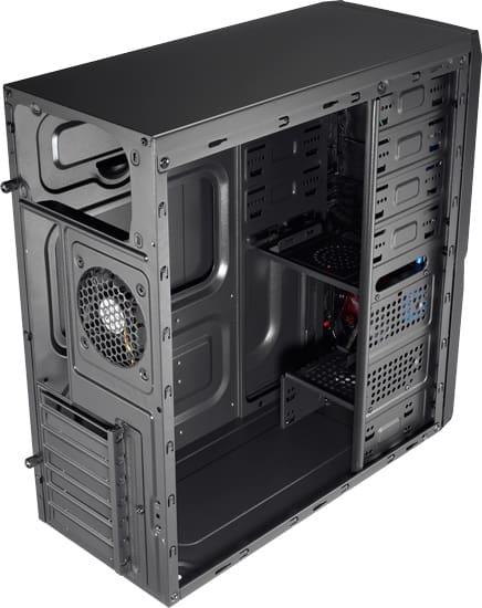 Számítógépház Aerocool V3X Advance Devil Red Edition ATX Fekete/Piros