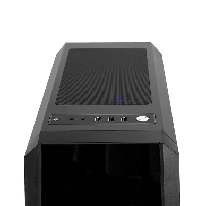 Számítógépház Chieftec Gaming Scorpion 3 RGB ATX Fekete RGB LED