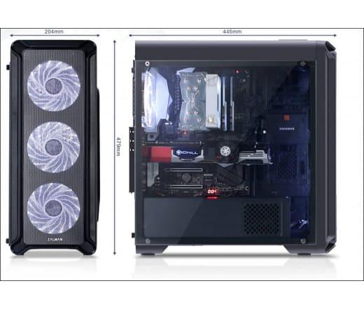 Számítógépház Zalman i3 Edge Midi fekete