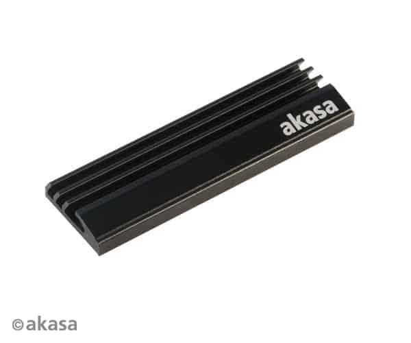 SSD hűtő Akasa M.2 NVMe hűtőborda Fekete