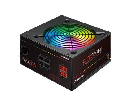Tápegység Chieftec Photon 650W 14cm ATX BOX 80+ Bronz RGB Led