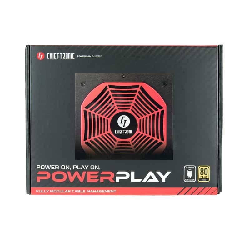 Tápegység Chieftronic PowerPlay 550W 14cm ATX BOX 80+ Gold Moduláris