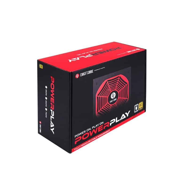 Tápegység Chieftronic PowerPlay 750W 14cm ATX BOX 80+ Gold Moduláris