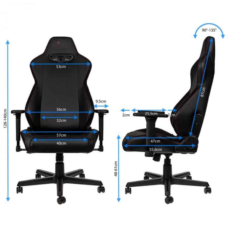 Gamer szék Nitro Concepts S300 EX Stealth Carbon Black - Fekete