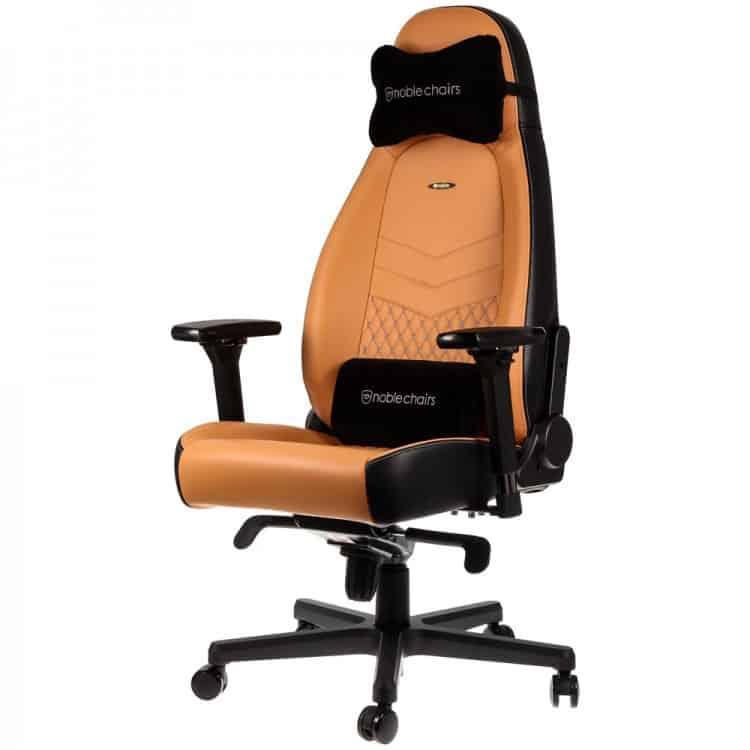 Gamer szék Noblechairs ICON Bőr Konyak/Fekete