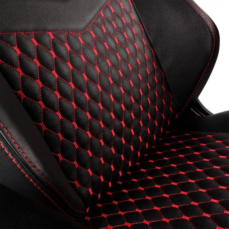 Gamer szék Noblechairs HERO BŐR Fekete/Piros