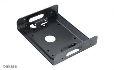 HDD/SSD beépítő keret Akasa 5.25 helyre - 3.5/2.5 HDD/SSD Fekete