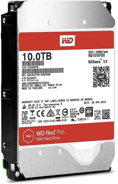 HDD SATA WD 10TB 3.5 7200 256M 24x7 Red Pro