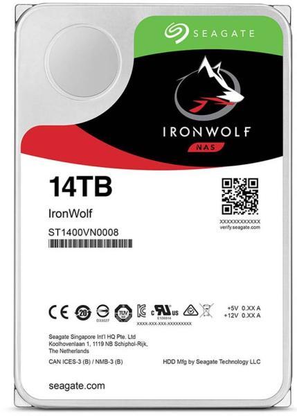 HDD SATA Seagate 14TB 3.5 5900 256M IronWolf VN0008