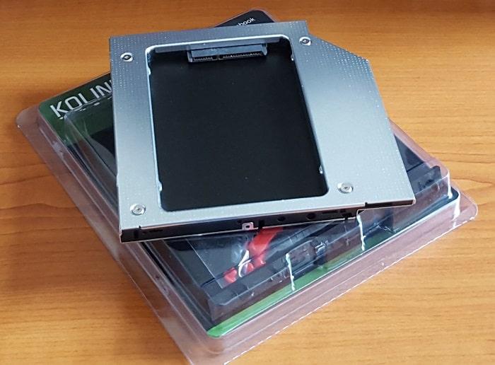 HDD/SSD beépítő keret Kolink SlimODD helyre - 2.5 SSD (9.5mm)
