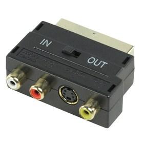 Kábel SCART Átalakító SCART (Male) - 3x RCA (Female) Adapter