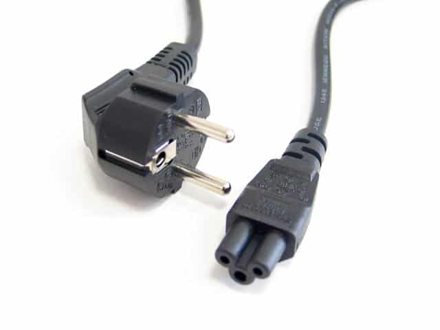 Kábel Táp Kolink Europlug (Male) - C5 (Female) 1.5m Notebook Földelt (Tápkábel)