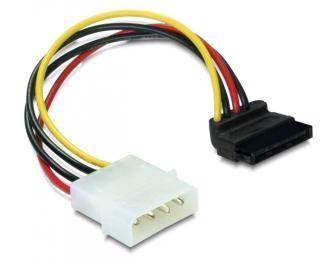 Kábel Táp Átalakító Molex (Male) - SATA PWR (Female) 90°-os