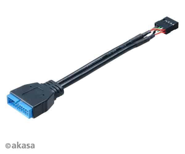 Kábel USB Átalakító Akasa USB 2.0 (Female) - USB 3.0 (Male) Belső