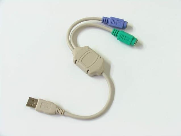 Kábel USB Átalakító Value USB 2.0 (Male) - 2x PS/2 (Female)